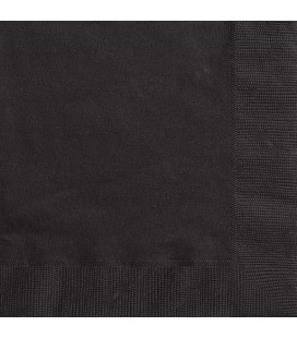 20 Black Lunch Napkins