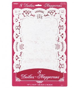 8 Doilies Napperons