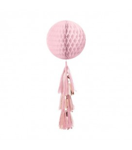 Pink Honeycomb Tassel Ball