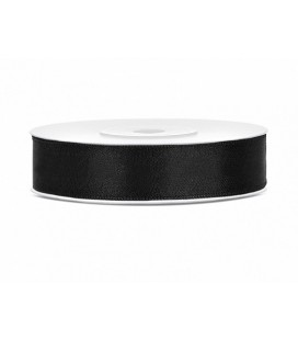 Black Satin Ribbon 12mm/25m