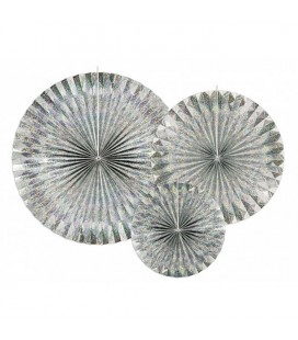 3 Holographic Paper Rosettes