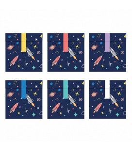 6 Galaxy Treat Bags