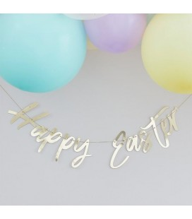 Gold Happy Easter Garland