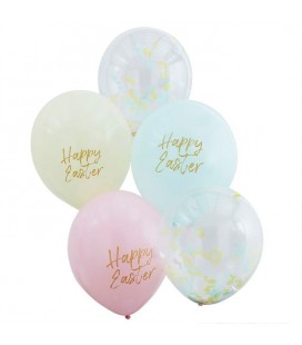 5 Easter Confetti & Pastel Balloons