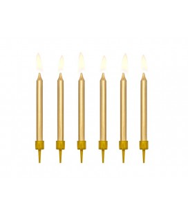 6 Gold Candles