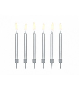 6 Silver Candles