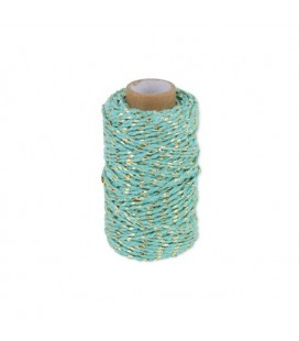 Ficelle Twine Turquoise & Or
