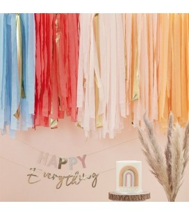 Muted Pastel Party Streamers Backdrop